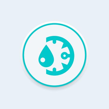 humidity icon, round pictogram