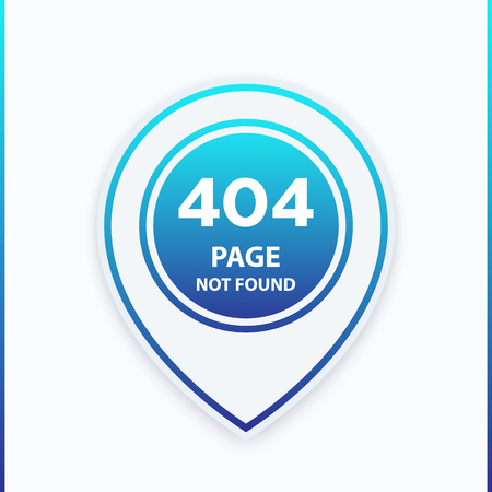 404 page not found template, vector illustration