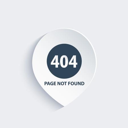 Fehler 404, Seite nicht gefunden Standard-Bild - 63492590