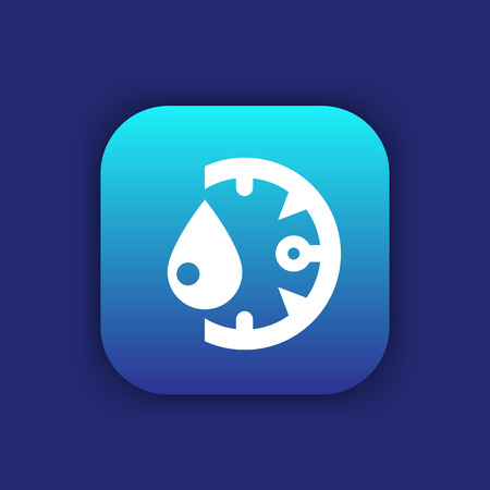 humidity icon on rounded square
