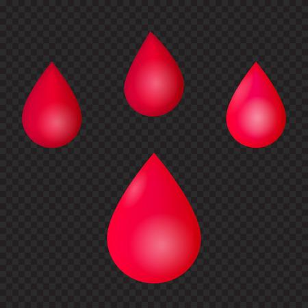 red drops, blood, vector illustration
