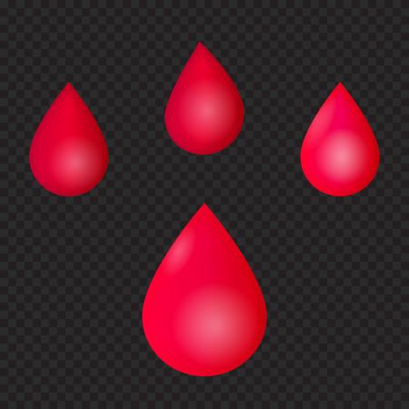 red drops, blood, vector illustration