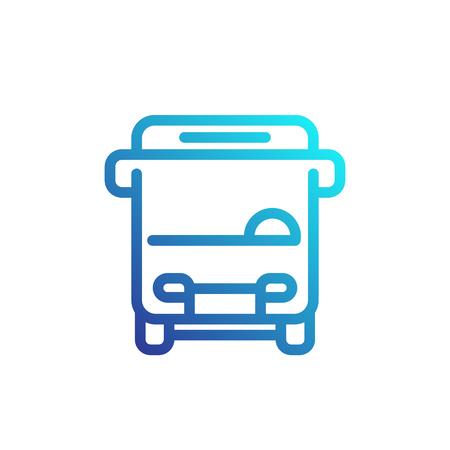 schoolbus: Bus line icon, logo element