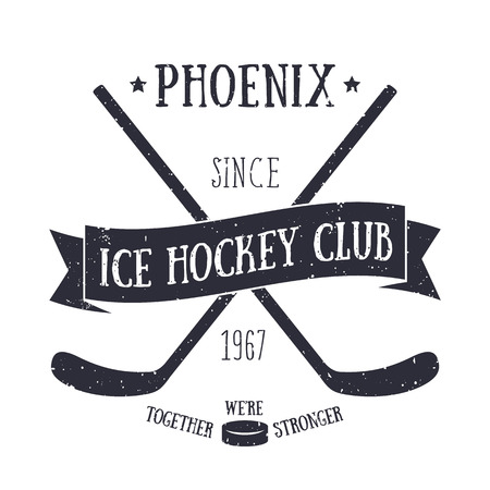 Ice Hockey club t-shirt print isolated on white