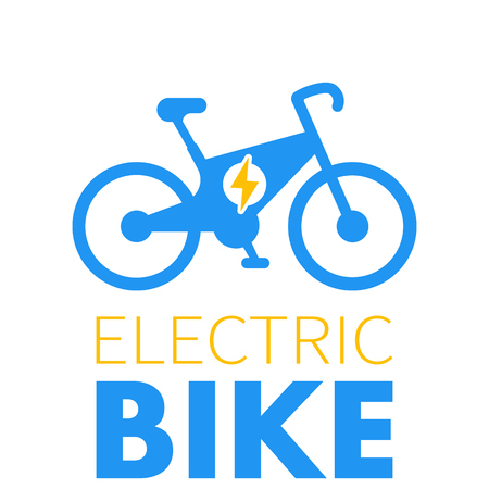 Electric bike icon, e-bike element, modern eco-friendly transport