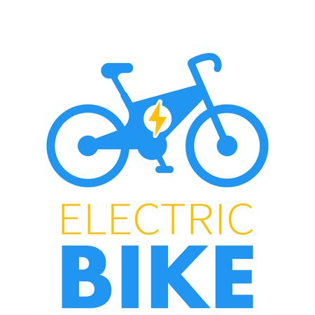 Electric bike icon, e-bike element, modern eco-friendly transport