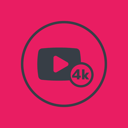 video content icon in circle