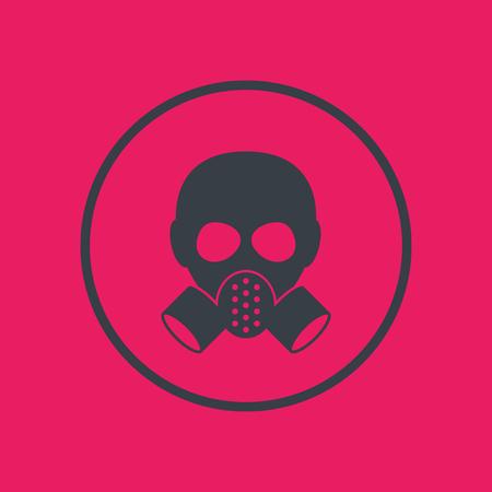 gas mask, respirator icon in circle