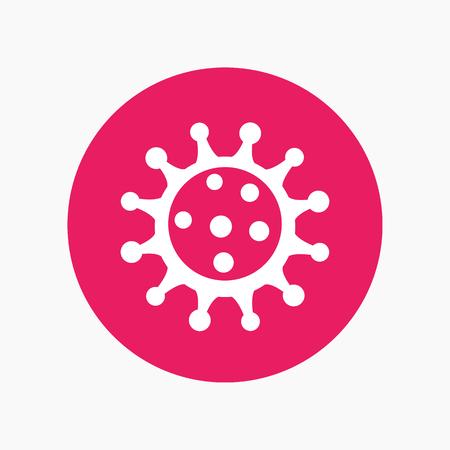 virion: Virus icon, pathogen, microbiology, virology Illustration