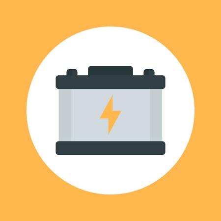 accumulator: car battery flat icon, accumulator Illustration