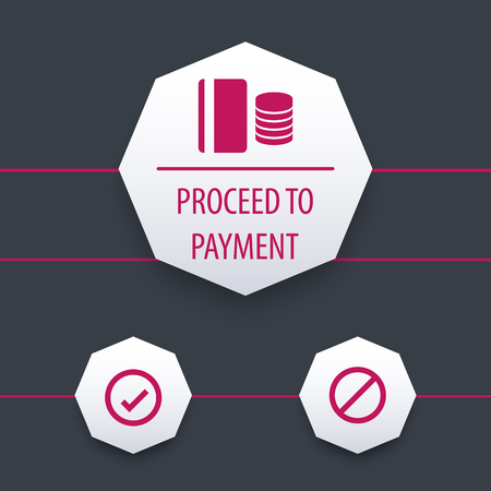 proceed: Proceed to payment window Illustration