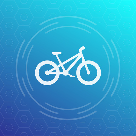 snow tires: Fat bike modern icon,  illustration Illustration
