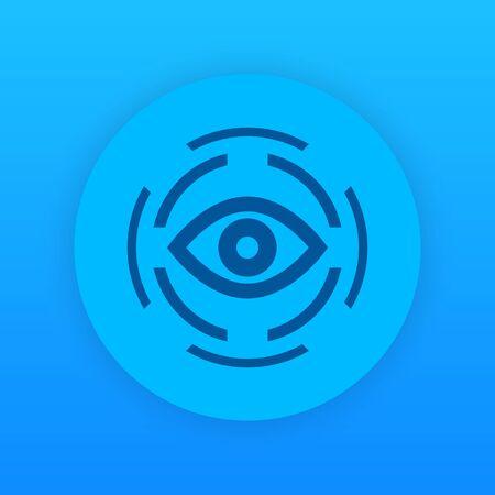 observer: retina scan icon, vector illustration Illustration