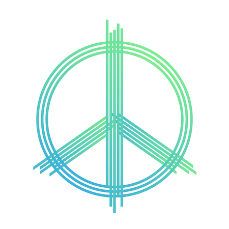 peace sign, vector t-shirt design, print, green lines on white