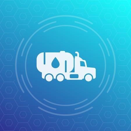tanker: Gasoline tanker truck vector ico