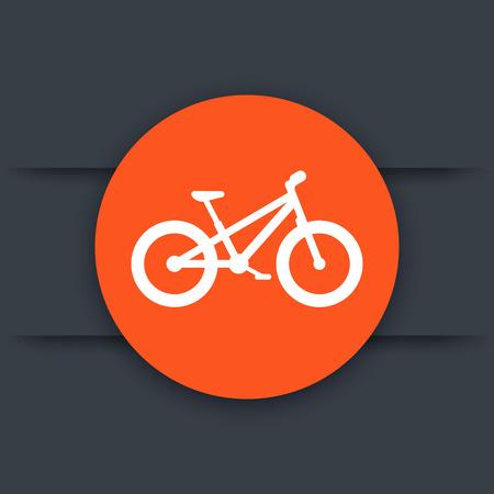snow tires: Fat bike round flat icon