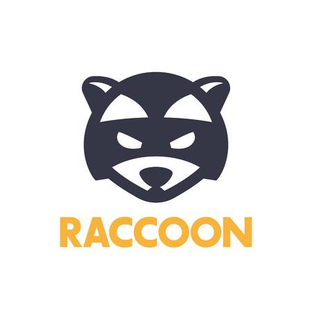 simple logo: raccoon logo element, simple icon on white