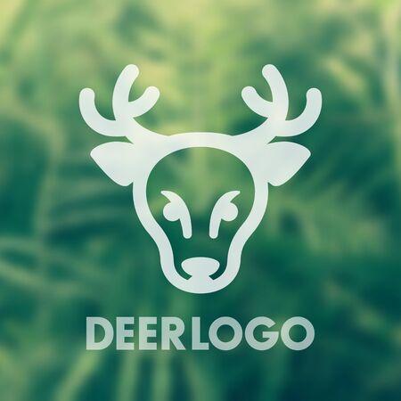 deer logo element for national park, wildlife sanctuary, vector illustration Illustration