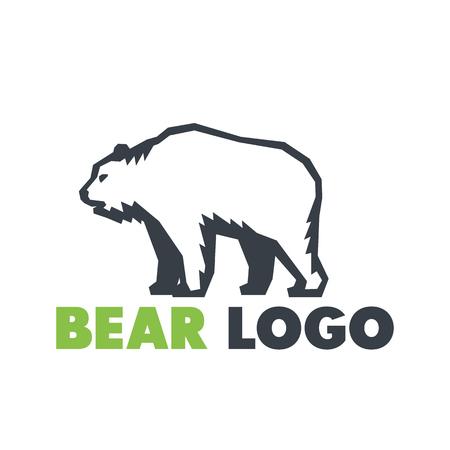 logo element: Bear logo element over white Illustration