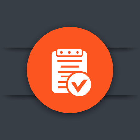 valid: valid document icon, approved payroll