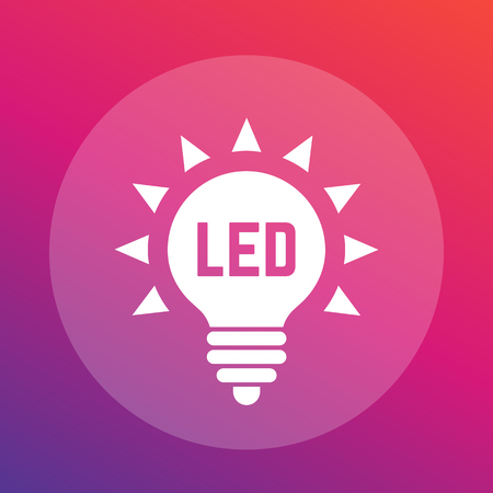 led light: led light bulb vector icon