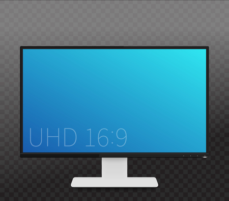 fullhd: monitor mockup, realistic display with wide screen