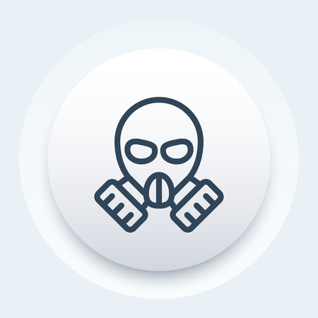 toxicant: gas mask icon in linear style