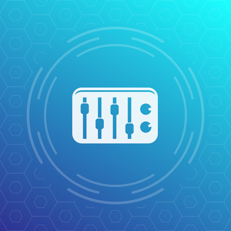 sound mixer: sound mixer icon, vector pictogram