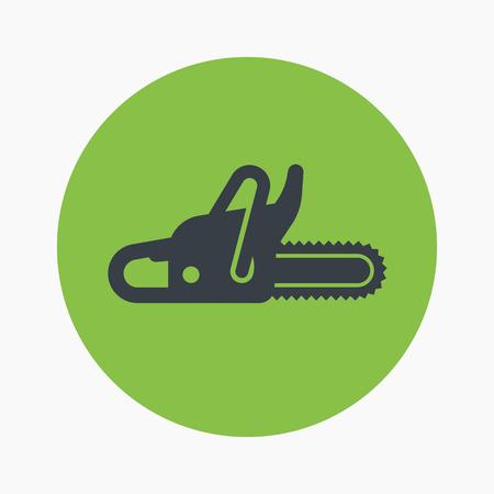 logging: Chainsaw icon, logging equipment
