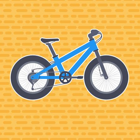 snow tires: Fat bike vector illustration in flat style Illustration