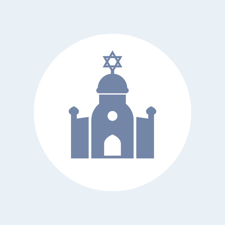 synagogue: synagogue icon isolated on white Illustration
