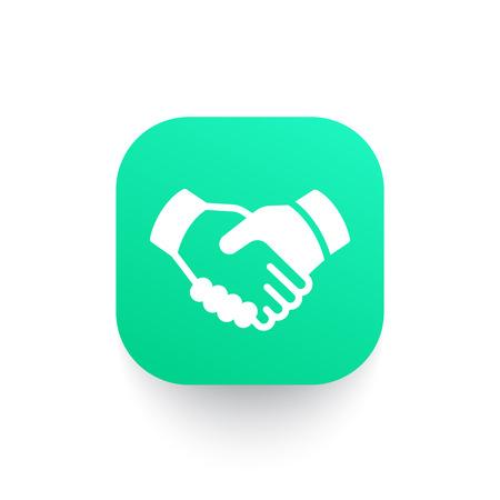 partnership icon: handshake, partnership icon Illustration