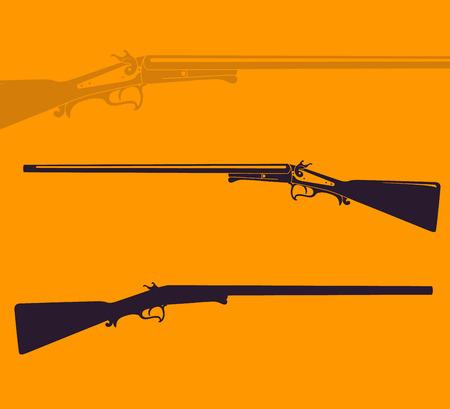 vintage rifle: Vintage hunting rifle