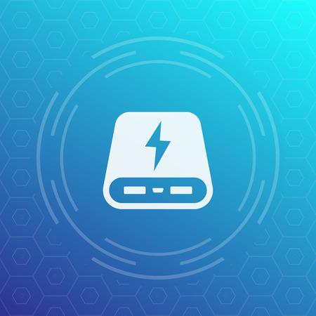 handheld device: power bank vector icon