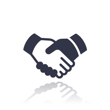 handgrip: handshake, deal, partnership icon isolated over white Illustration