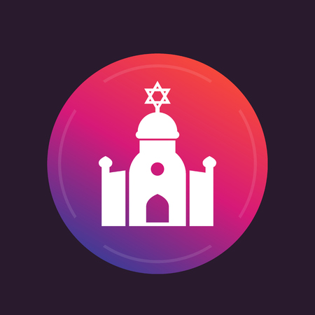 synagogue vector icon Illustration