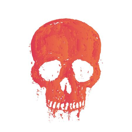 halloween tee shirt: t-shirt print with painted skull over white