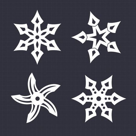 throwing: ninja throwing stars, shurikens