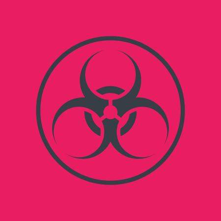 biohazard: biohazard symbol in circle, vector illustration Illustration