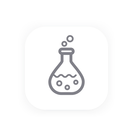 over lab: Chemistry icon in linear style, vector illustration