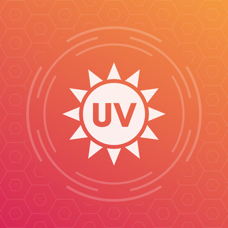 UV radiation vector icon