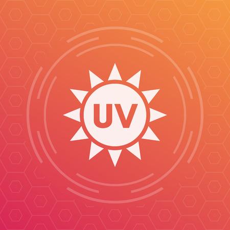 UV radiation vector icon
