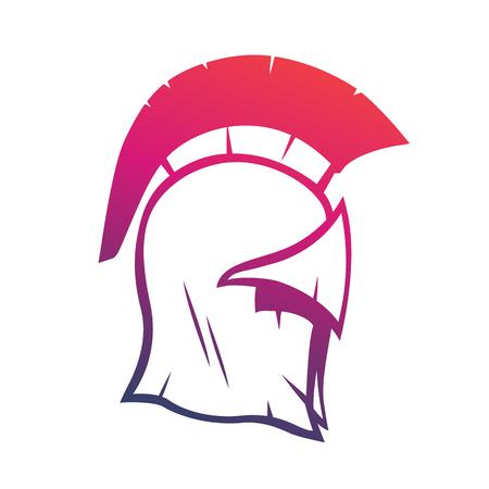 Spartan helmet vector element for logo or print, vector illustration