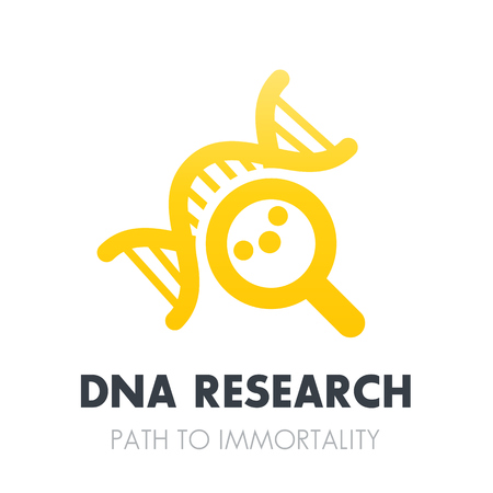 dna research, genetics icon over white Illustration