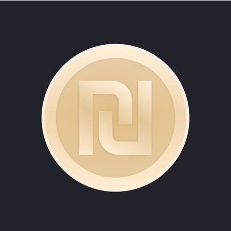 shekel, israeli coin vector icon