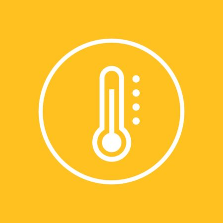 scale icon: Thermometer icon in circle, vector illustration Illustration