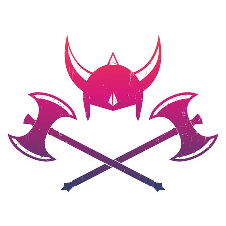 barbaric: Vikings helmet and axes