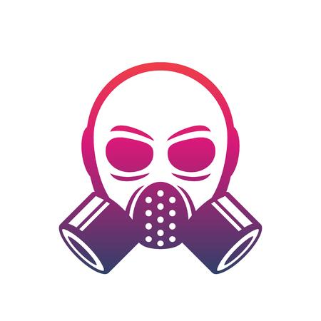 biohazard: gas mask icon, vector sign over white