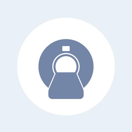 MRI scanner icon isolated on white  イラスト・ベクター素材