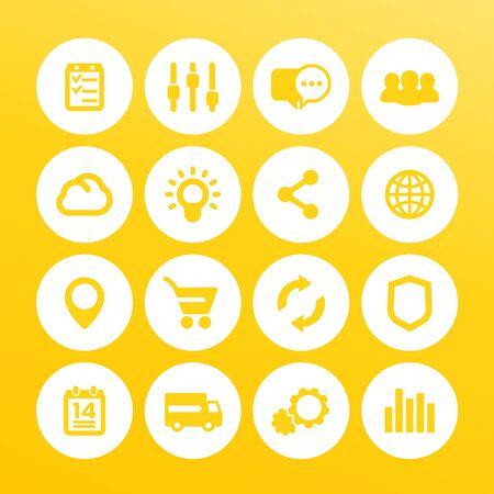 web icons set, internet, e-commerce, shopping, business, analytics Ilustração